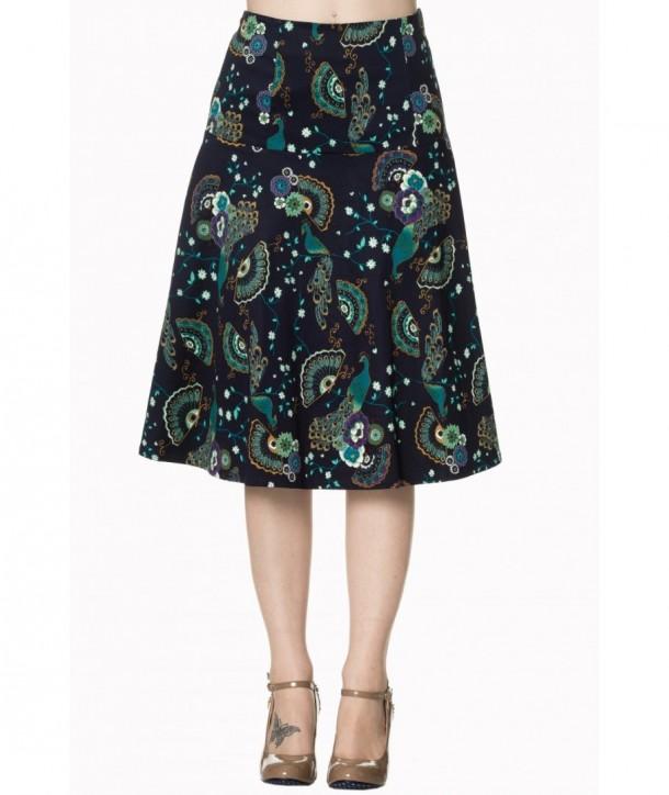 Jupe Banned Clothing Proud Peacock Skirt Night/Bleu