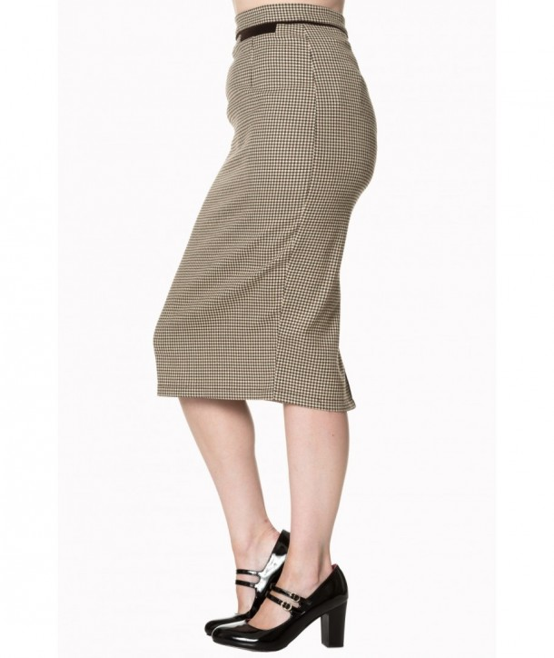 Jupe Banned Clothing Swept Off Her Feet Pencil Skirt Marron