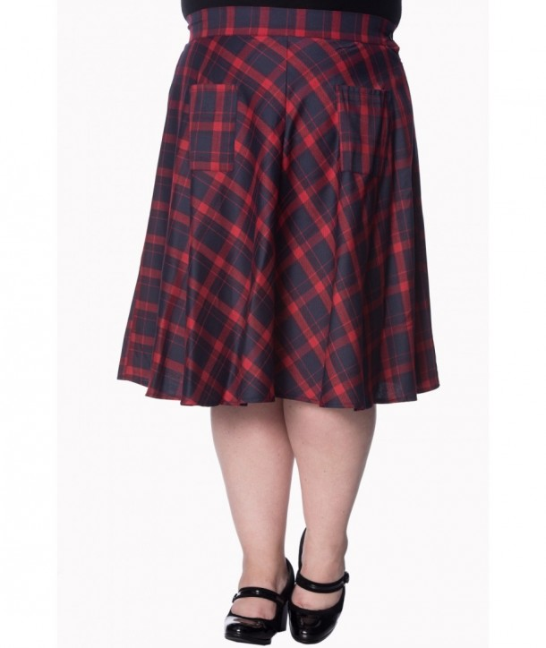Jupe Banned Clothing Apple Of My Eye Skirt Rouge