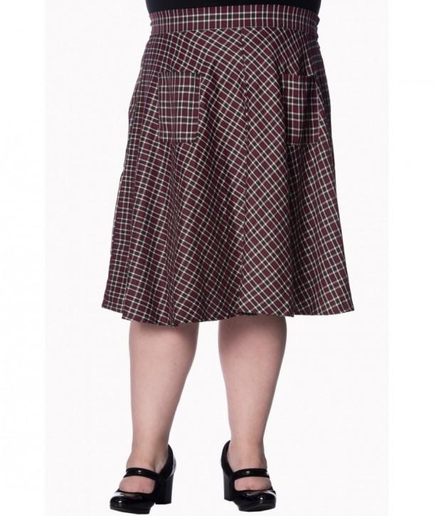 Jupe Banned Clothing Apple Of My Eye Skirt Rouge/Noir