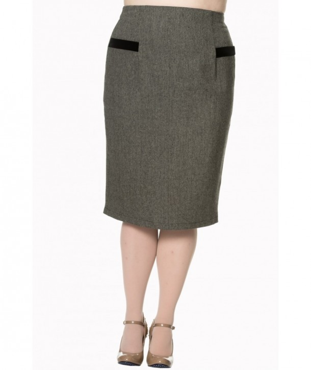 Jupe Banned Clothing Lady Luck Pencil Skirt Noir