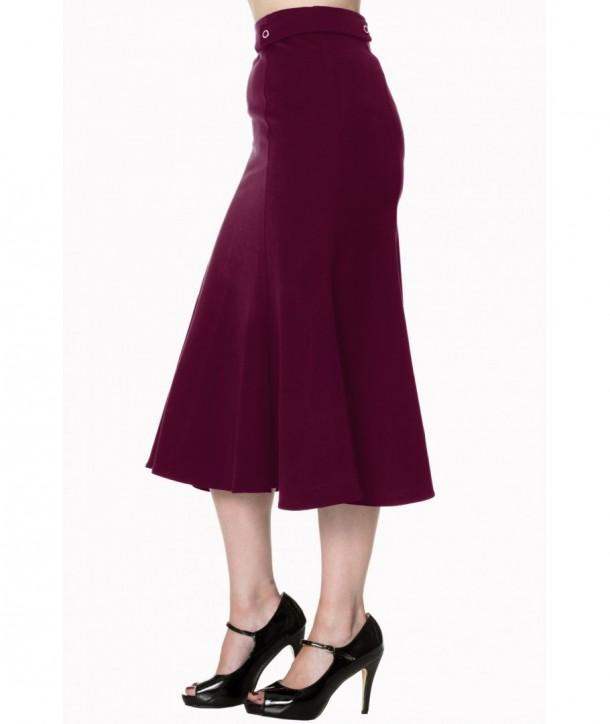 Jupe Banned Clothing Elegance Burgundy