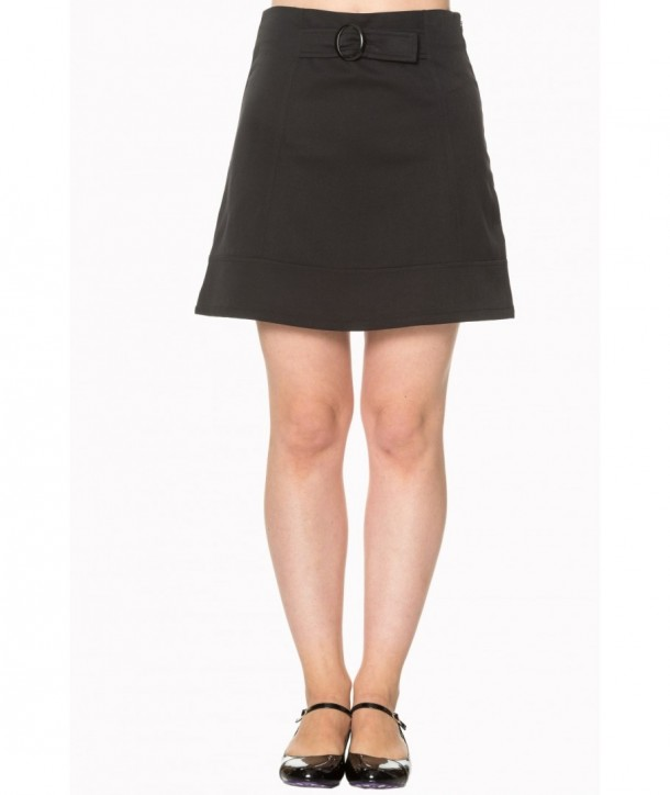 Jupe Banned Clothing Dare To Wear Buckle Detail Skirt Noir