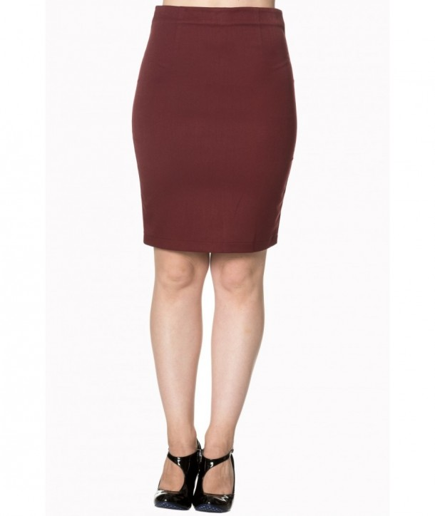 Jupe Banned Clothing Rock And Roll Skirt Bordeaux