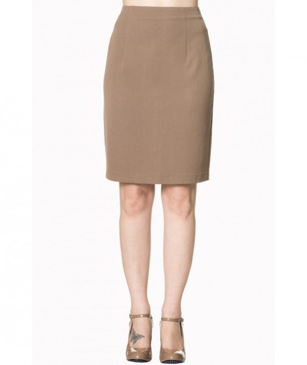 Jupe Banned Clothing Rock And Roll Skirt Light Marron