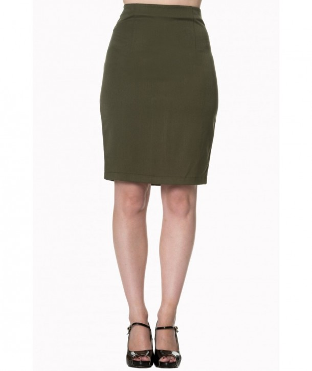 Jupe Banned Clothing Rock And Roll Skirt Olive