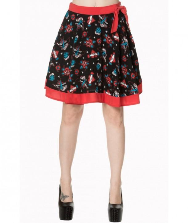 Jupe Banned Clothing Regret Nothing Skirt Noir