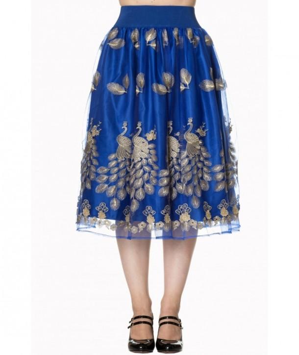 Jupe Banned Clothing Moonlight Escape Skirt Bleu