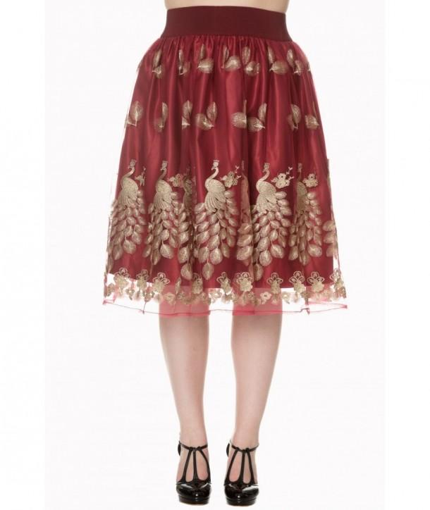 Jupe Banned Clothing Moonlight Escape Skirt Bordeaux