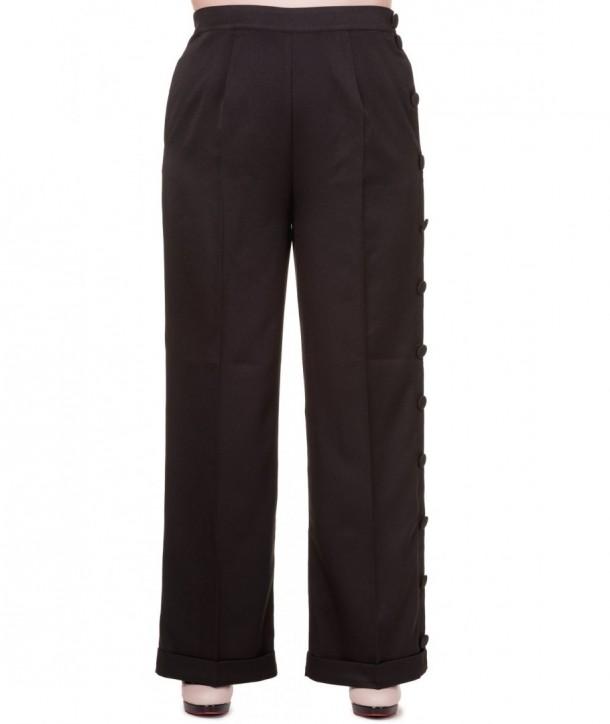 Pantalon Banned Clothing Shot In The Dark Pants Noir
