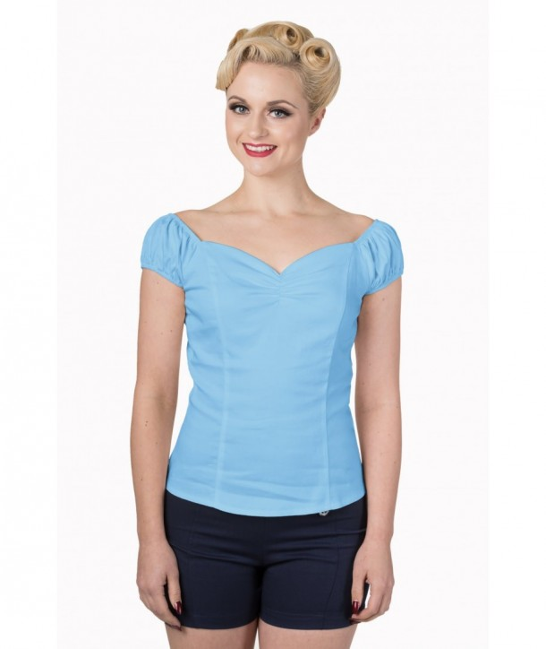 Top Banned Clothing Winnie Top Baby Bleu