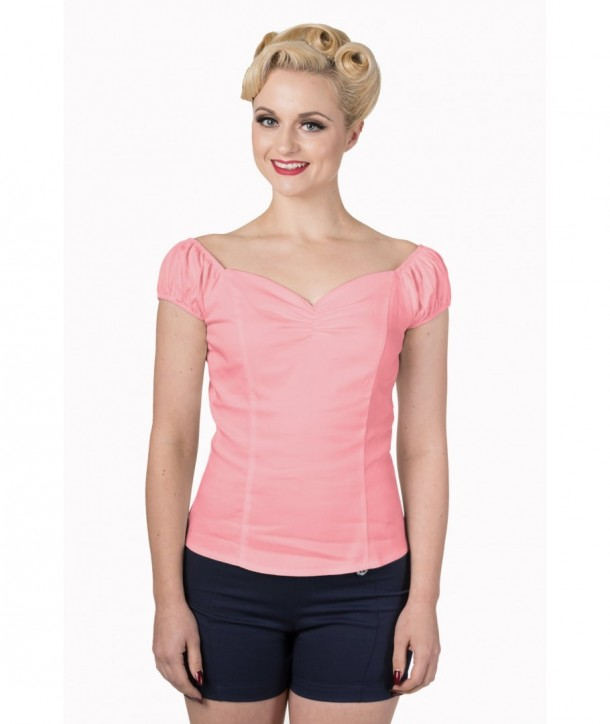 Top Banned Clothing Winnie Top Rose