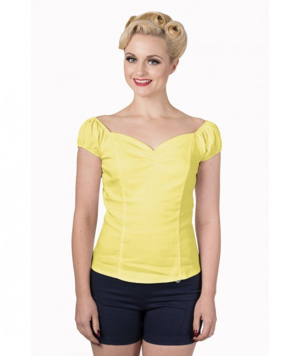 Top Banned Clothing Winnie Top Jaune