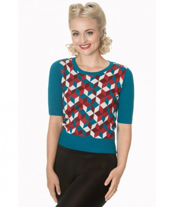 Top Banned Clothing Retro Cube Turquoise