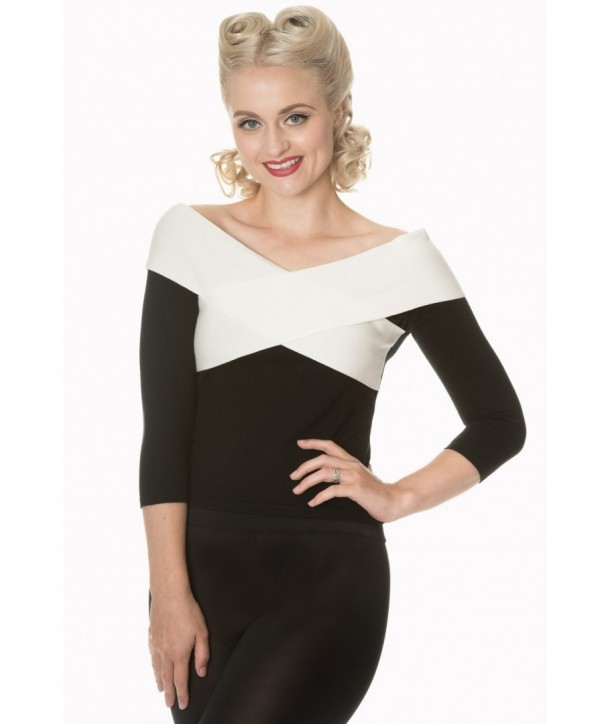 Top Banned Clothing Wraped In Love Noir/Blanc