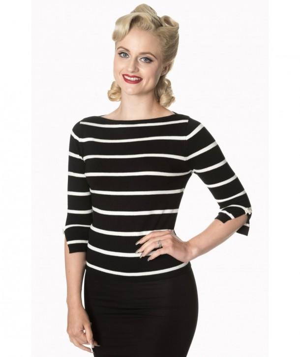 Top Banned Clothing Stripes Please! Knit Jumper Noir