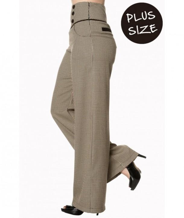 Pantalon Banned Clothing Swept Off Her Marron