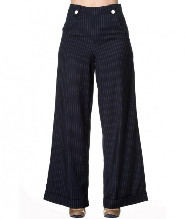 Pantalon Banned Clothing Sweet Revenge Navy