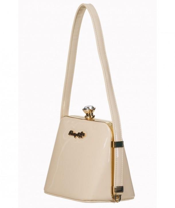 Sac Banned Clothing Dark Blooms Handbag Beige