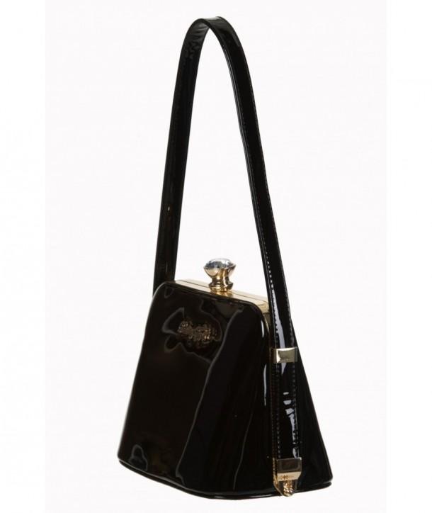 Sac Banned Clothing Dark Blooms Handbag Noir