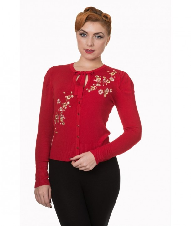Cardigans Banned Clothing Last Dance Cropped Rouge