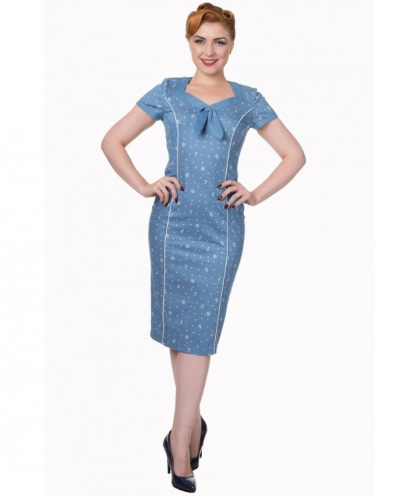 Robe Banned Clothing Sweet Talker Pencil Dress Alaska Bleu