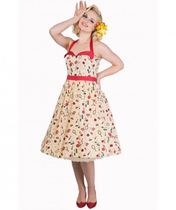 Robe Banned Clothing New Romantics Mini Dress Beige