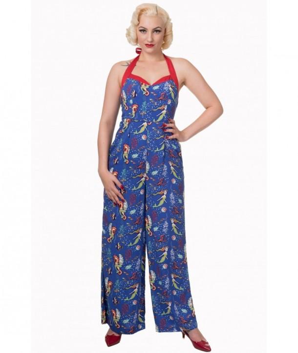 Pyjama Banned Clothing Made Of Wonder Jumpsuit Bleu