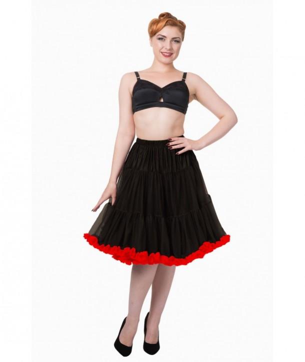 Tutu Banned Clothing Wild Fire Petticoat Noir/Rouge