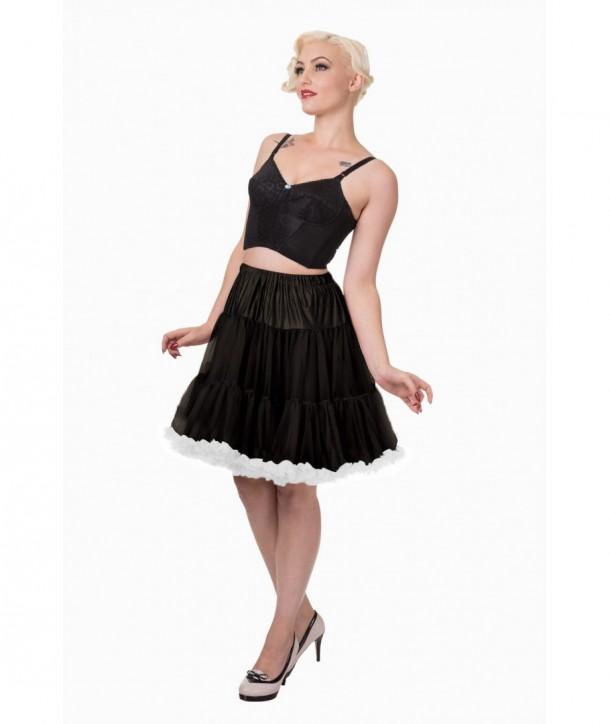 Tutu Banned Clothing Wild Fire Petticoat Noir/Blanc