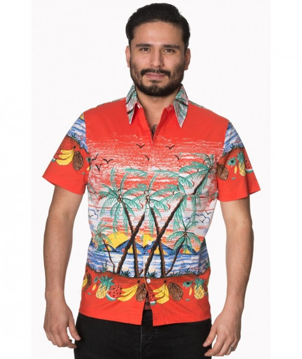 Chemise Banned Clothing Palm Springs Shirt Rust
