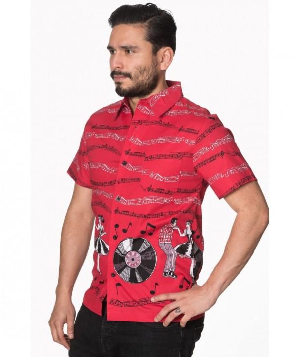 Chemise Banned Clothing Empower Shirt Rouge