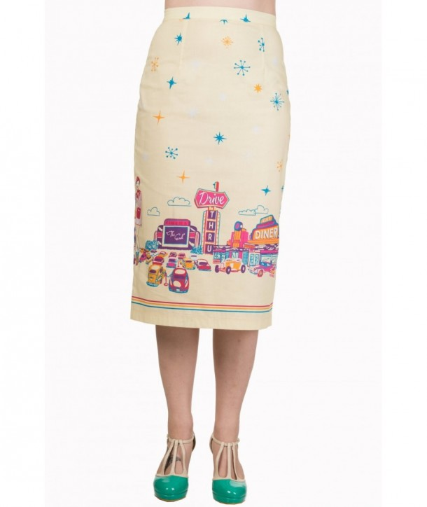 Jupe Banned Clothing Hold Tight Pencil Skirt Custard
