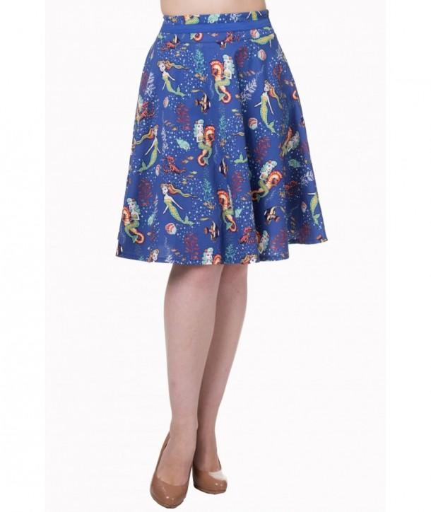 Jupe Banned Clothing Made Of Wonder Midi Skirt Bleu