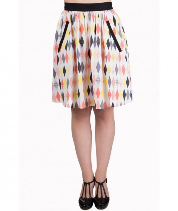 Jupe Banned Clothing Heart Stops Skirt Multicolor