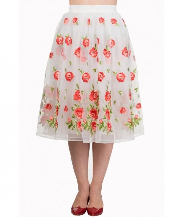 Jupe Banned Clothing Dark Moon Skirt Blanc