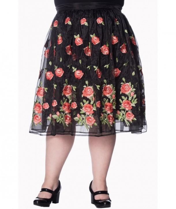 Jupe Banned Clothing Dark Moon Skirt Plus Noir