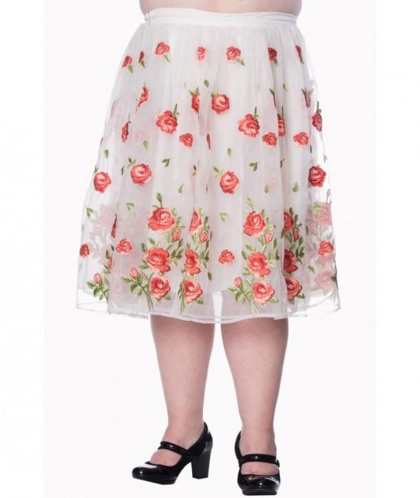 Jupe Banned Clothing Dark Moon Skirt Plus Blanc