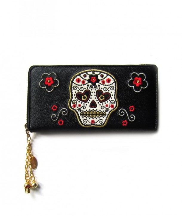 Porte Monnaie Banned Clothing Candy Skull Wallet Noir