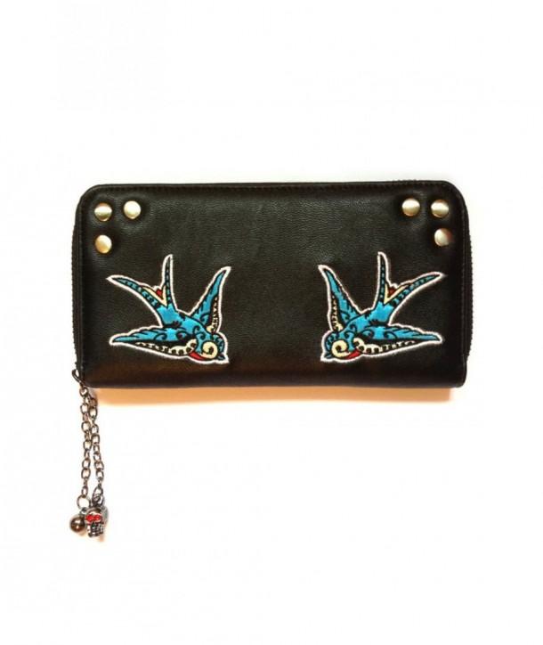 Porte Monnaie Banned Clothing Swallows Wallet Noir