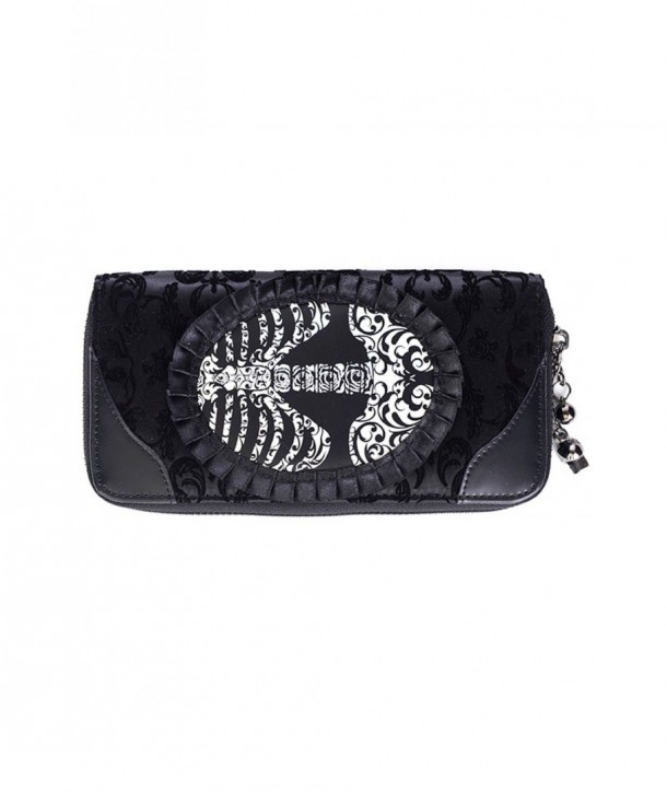 Porte Monnaie Banned Clothing Ivy Noir Ribcage Lace Wallet Noir