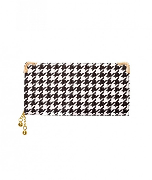 Porte Monnaie Banned Clothing Dog Tooth Wallet Noir/Blanc