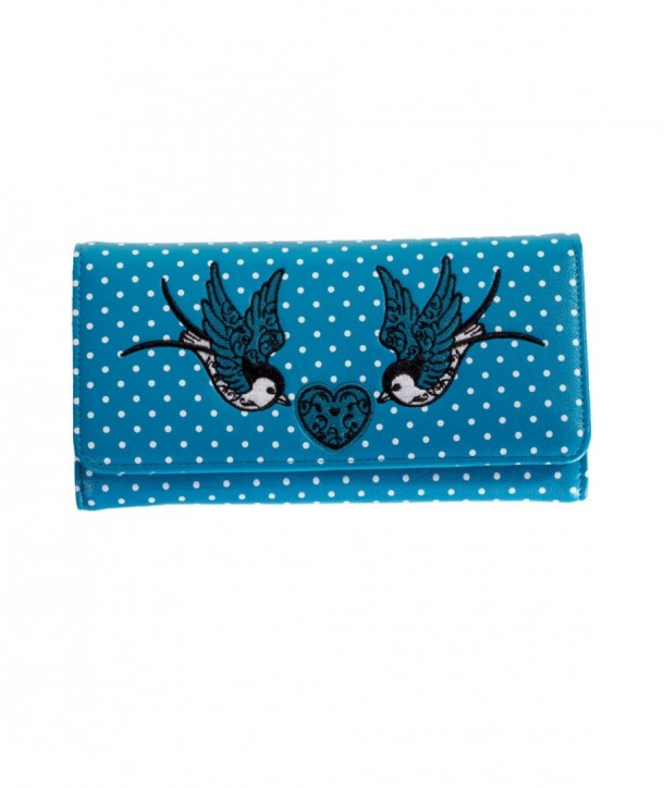 Porte Monnaie Banned Clothing Now Or Never Wallet Teal Bleu