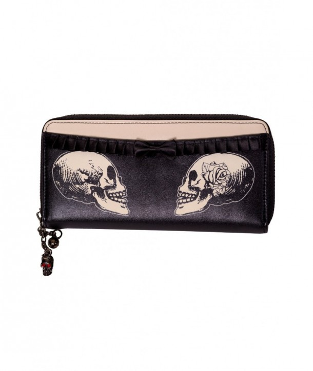 Porte Monnaie Banned Clothing Stand Your Ground Wallet Noir/Cream