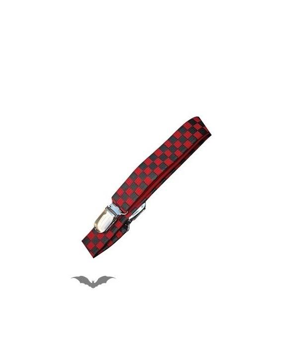 Suspenders Queen Of Darkness Gothique Suspenders Black/Red Checkerboard