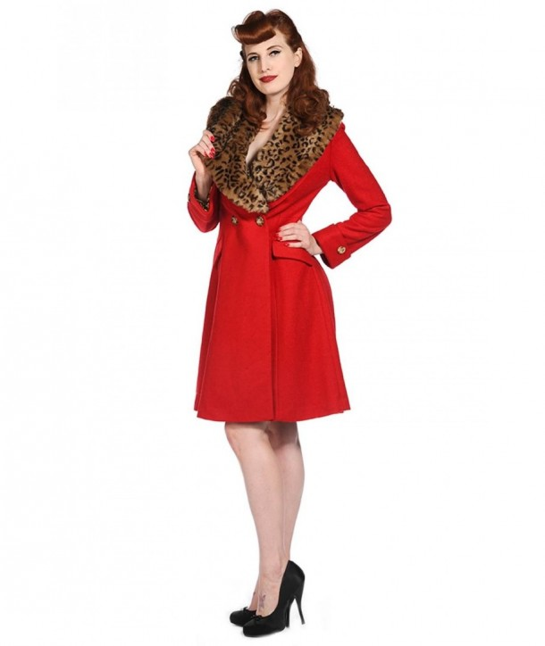Manteau Banned Clothing Vintage Red