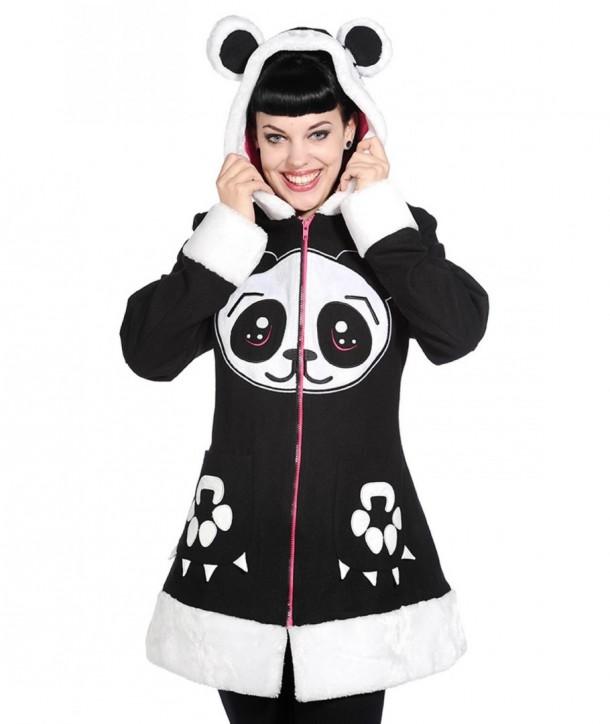 Manteau Banned Clothing Panda Face