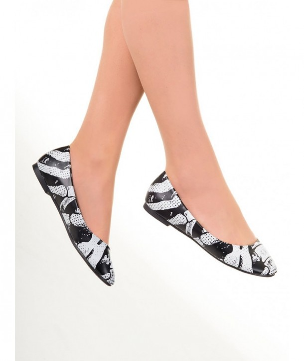 Chaussures Banned Clothing Ribcage Ballerina Noir