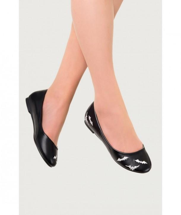 Chaussures Banned Clothing Bats Ballerina Noir/Blanc