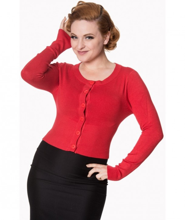 Cardigan Banned Clothing Dolly Red